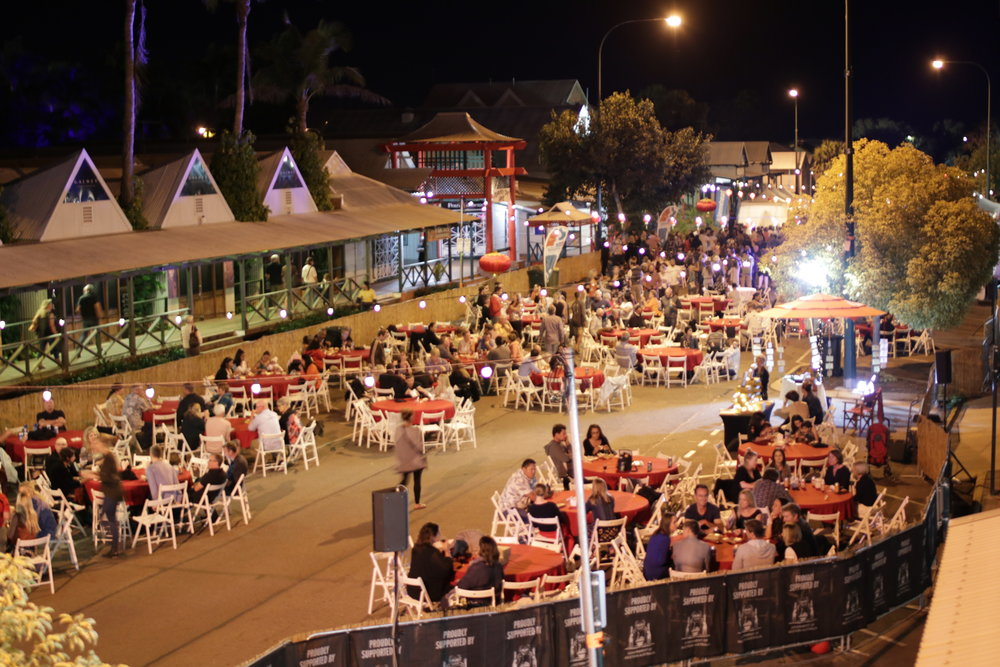The streets of Broome come to life for the Pearl Harvest Yum Cha during Shinju Matsuri Photo: Brandon Stirrup