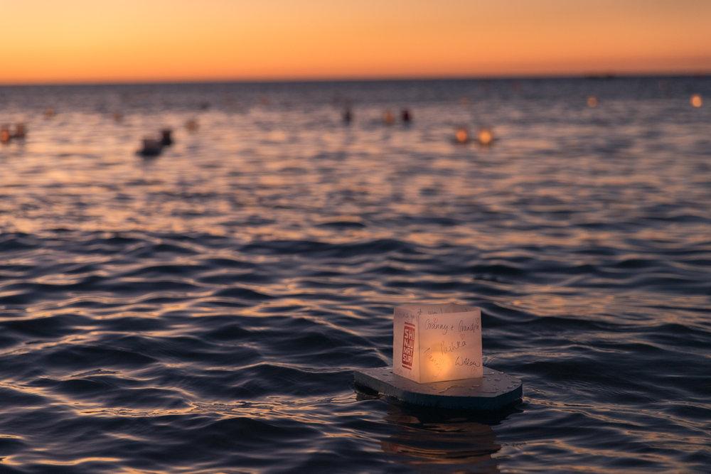 The Floating Lantern Matsuri at Broome's Gantheuame Point. Photo: Pamela Jennings