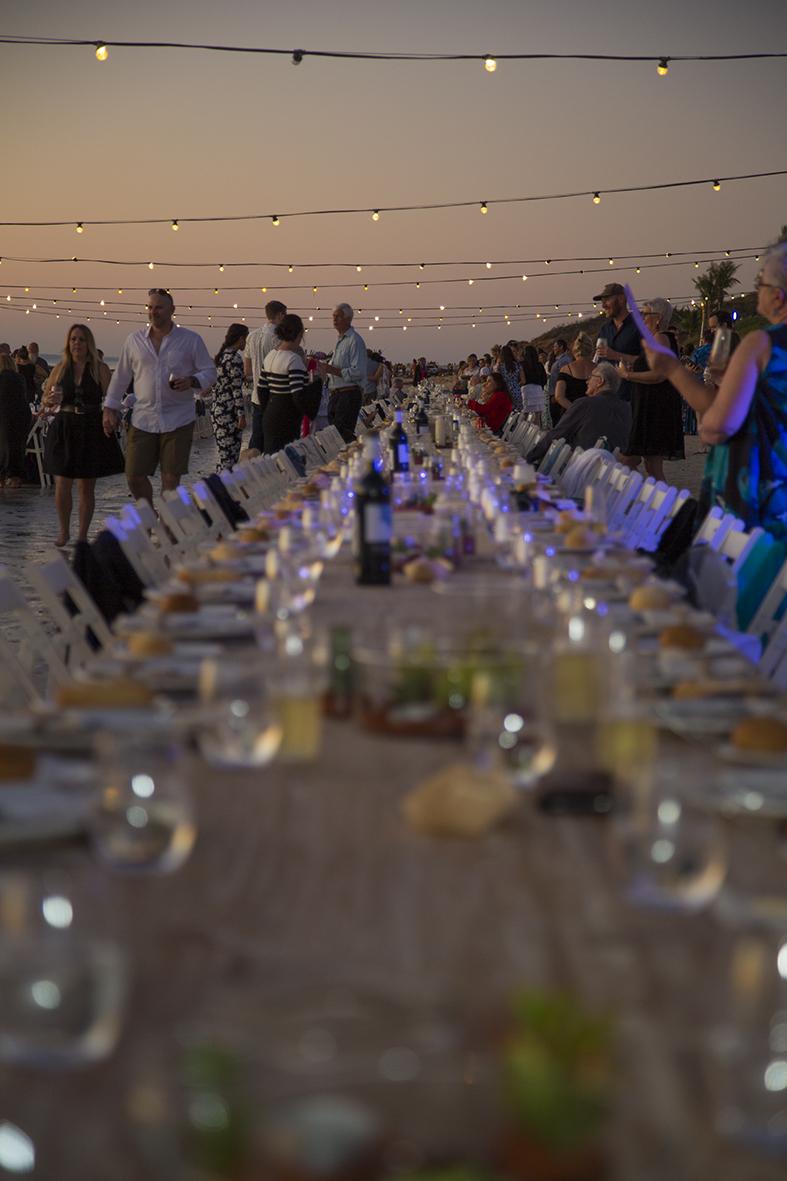 The Sunset Long Table dinner, at Broome's Shinju Matsuri Festival. Photo: Taja Coles-Berenyi