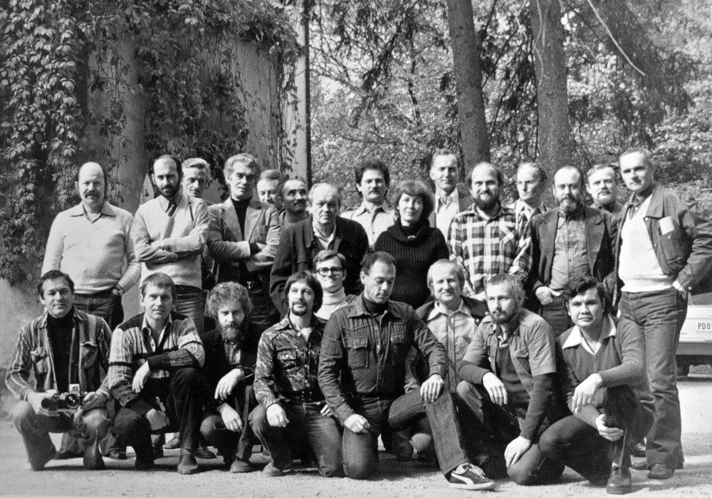 Zsennyei Műhely csoportkép, 1978