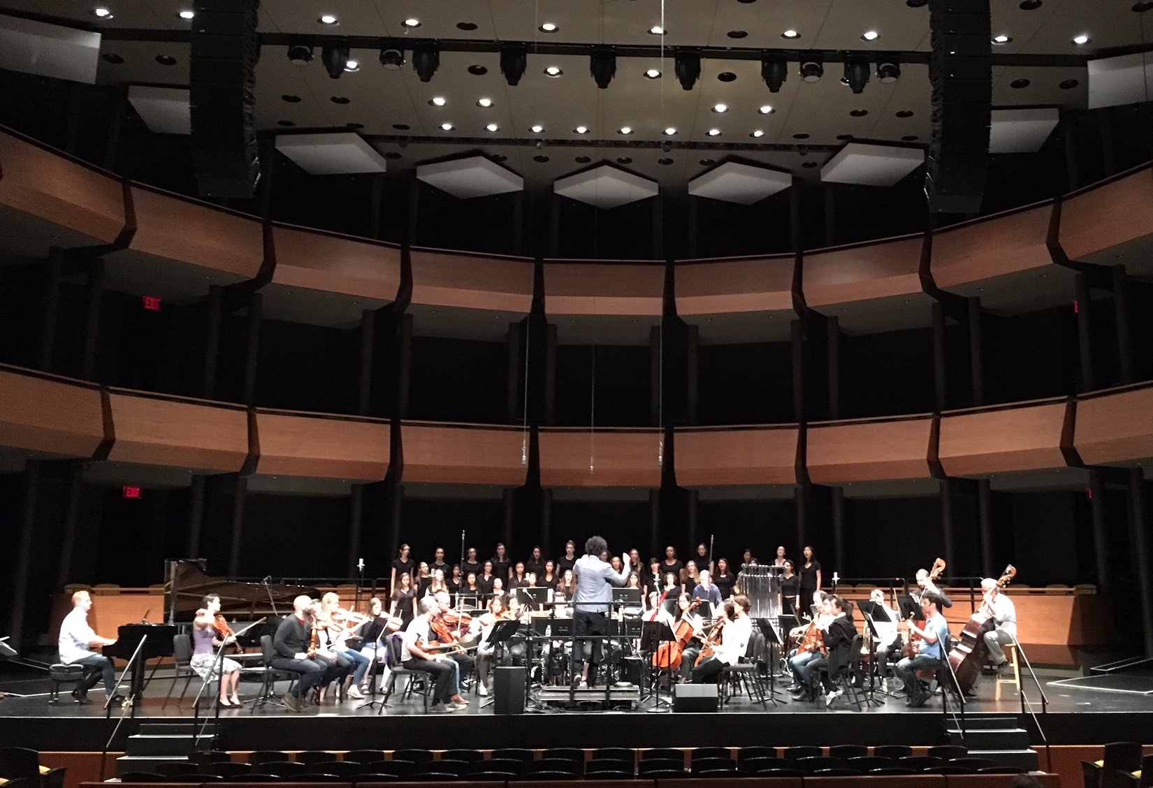 Rehearsing Aaron Jay Kernis' work with The Knights at the Rose Theatre, Lincoln Center