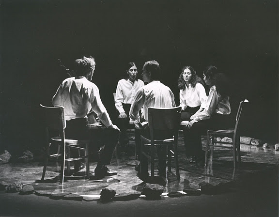 Meredith Monk performing Dolmen Music with her ensemble
