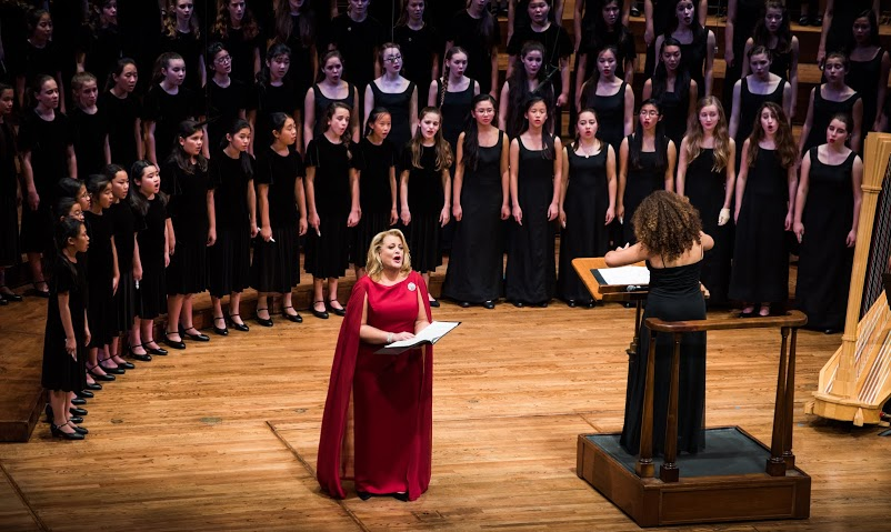 SF Girls Chorus and Chorus School in concert with Deborah Voigt, December 7, 2016. Photograph by MarcoSanchez.net.