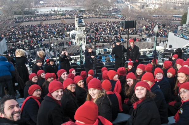 Members of SFGC and SFBC after singing at Obama's inauguration.