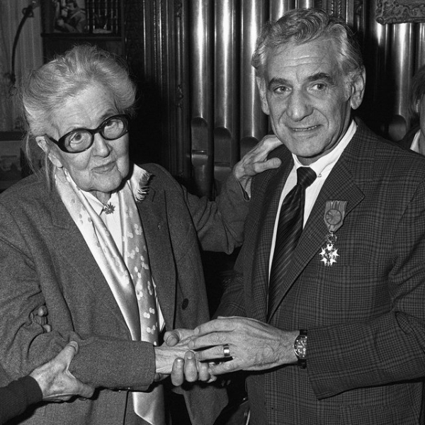 Nadia Boulanger and her student Leonard Bernstein (credit Getty Images)