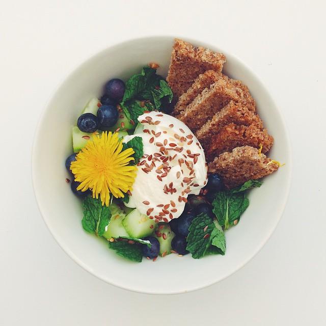 Instagram/saladpride  We know you be a weed, dandelion.