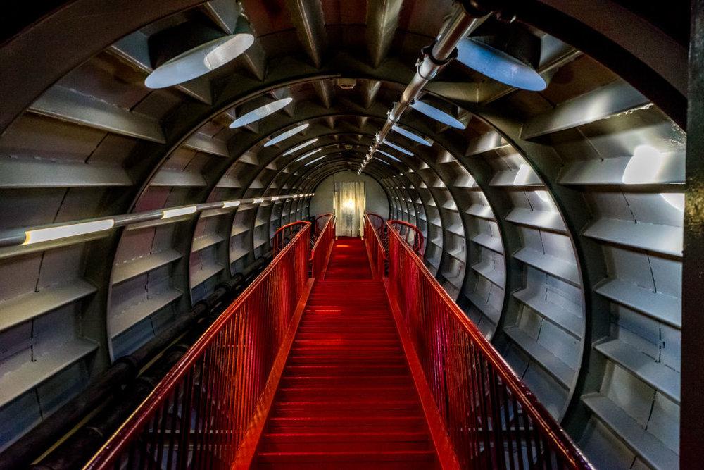 Brussels Atomium Red Staircase Belgium