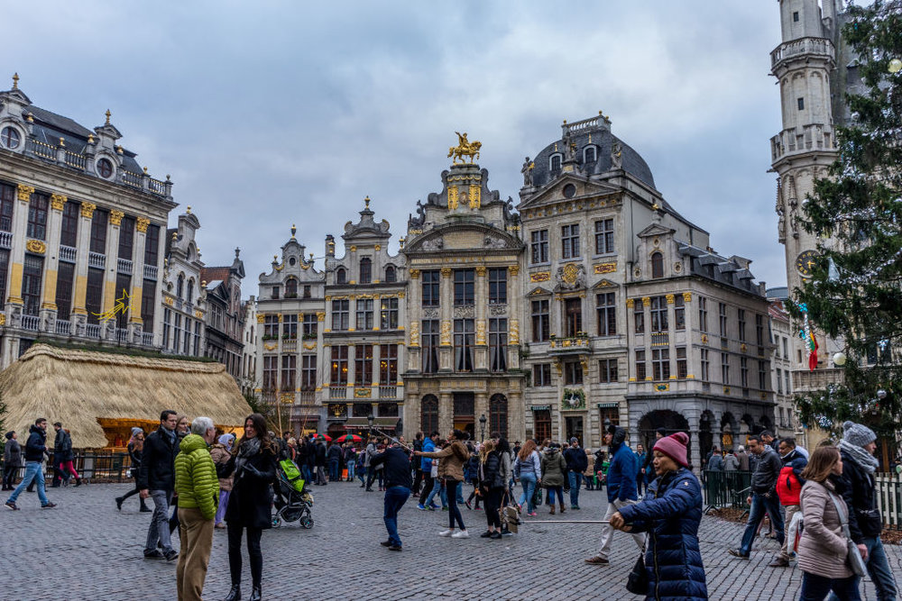 Brussels Grand Place Belgium selfie