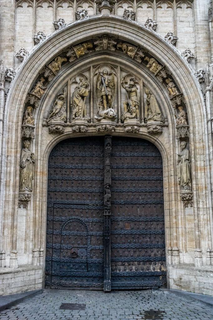 Brussels Grand Place Belgium door