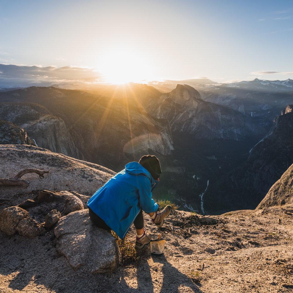 Sunrise over half dome at eagle peak yosemite national park california