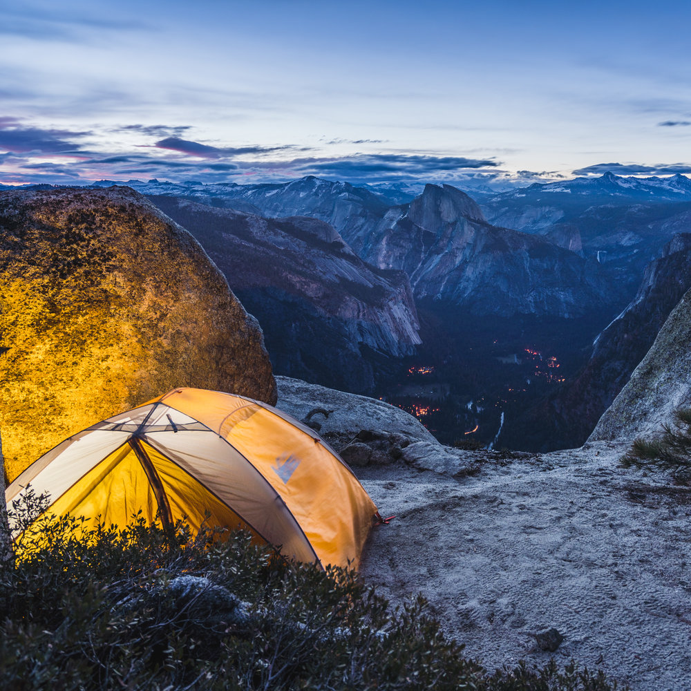 our tent and campsite camping yosemite valley dusk sunrise rei yosemite national park california