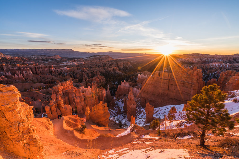 Sunrise sunset point Bryce canyon national park utah sony ar73 timelapse sunburst
