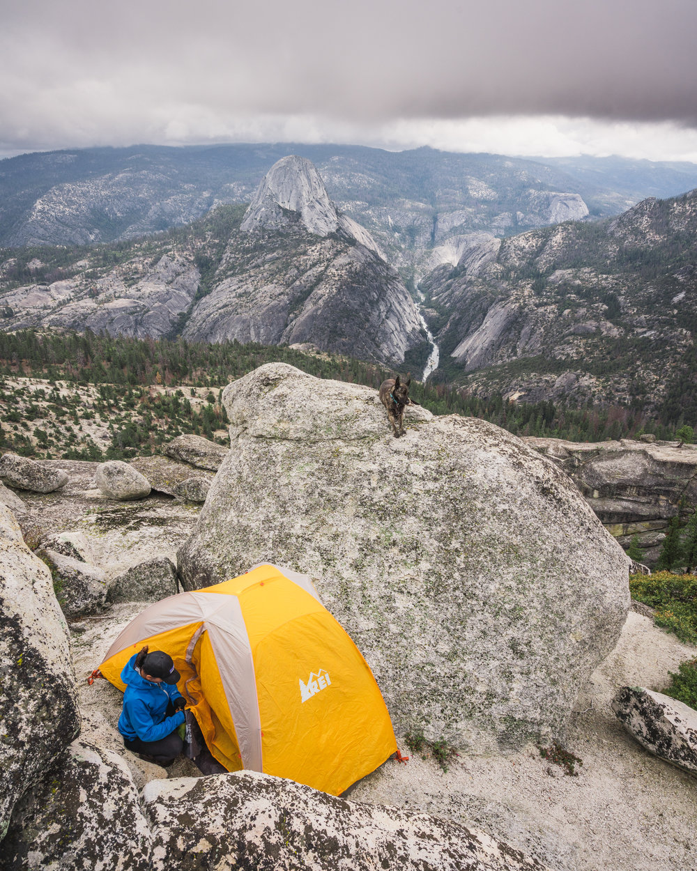 balloon dome, california, half dome, sister, sierra national forest, ansel adams wilderness, bushwacking, solitude, camping, tent, rei, half dome plus 2 ten