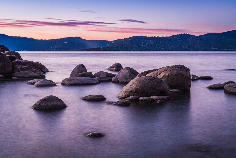 Lake Tahoe Purple Sunset Alphawanderlust