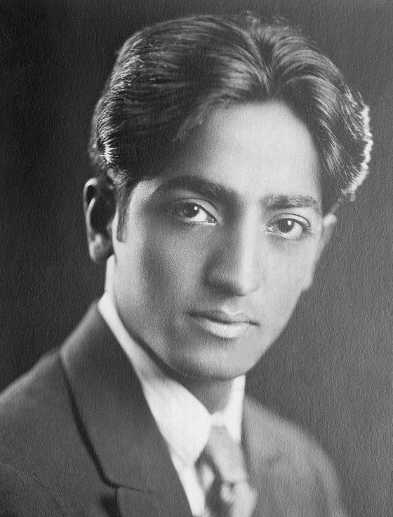 Jiddu Krishnamurti   By Unknown - This image is available from the United States Library of Congress's Prints and Photographs division under the digital ID ggbain.38863. This tag does not indicate the copyright status of the attached work. A normal copyright tag is still required. Public Domain, https://commons.wikimedia.org/w/index.php?curid=2833431