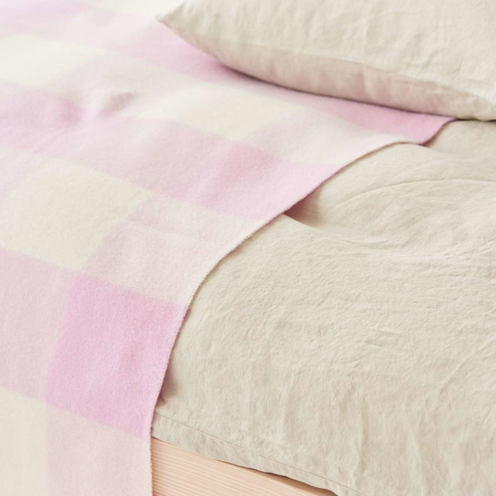 Merino Plaid 150x210 Pink/white