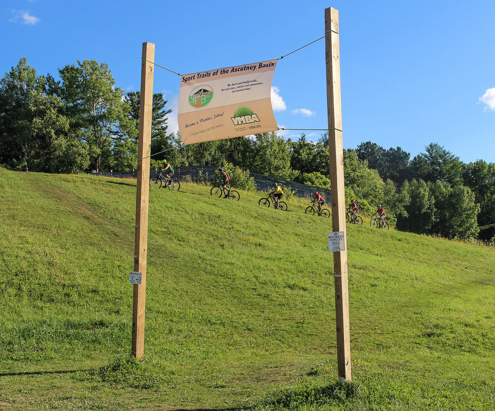 Signage and Riders. Ascutney Trails Sign.jpg