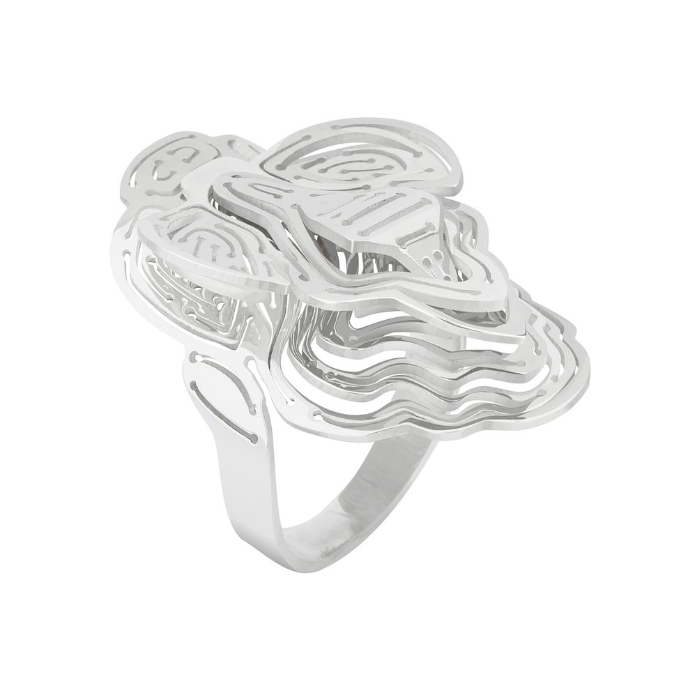 Kay Konecna | Nebo Flower Ring Silver