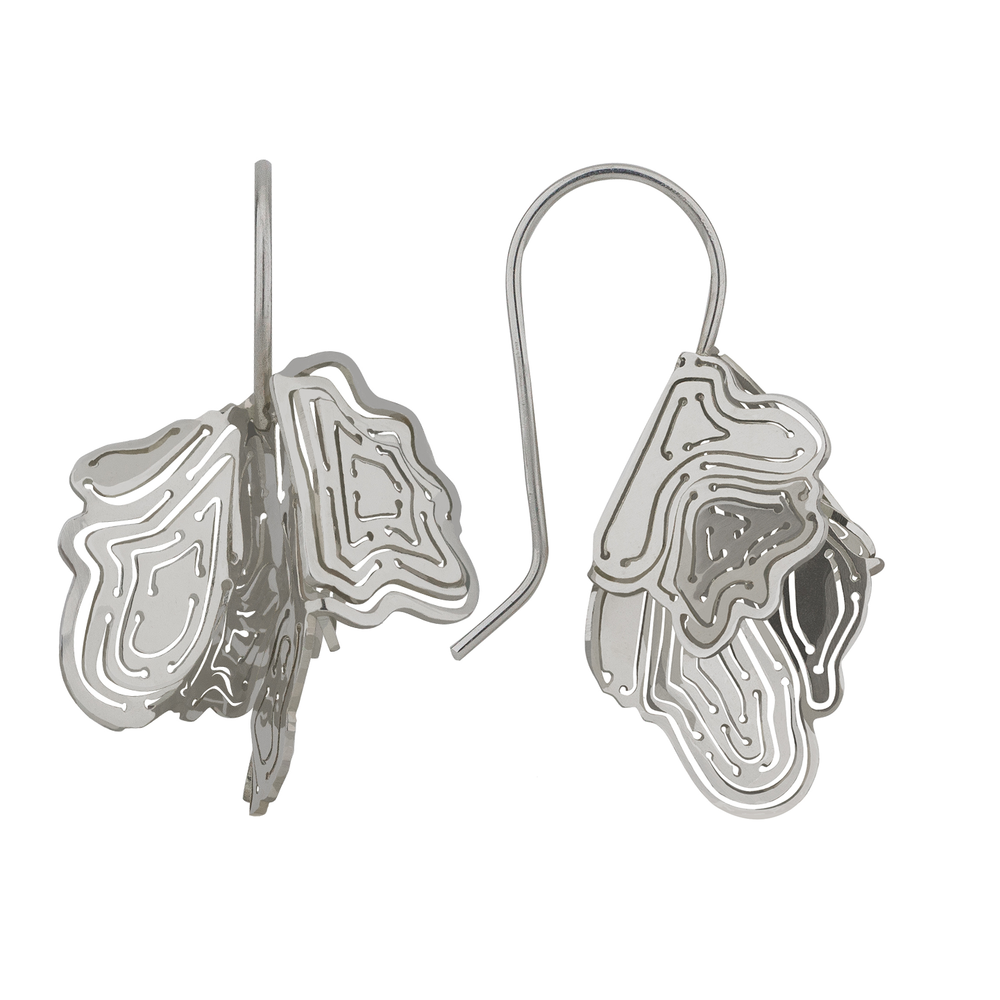 Kay Konecna | Nebo Flowers Earrings Silver