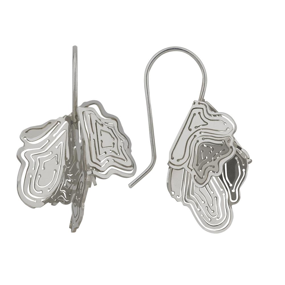 Kay Konecna | Nebo Flowers Earrings Silver