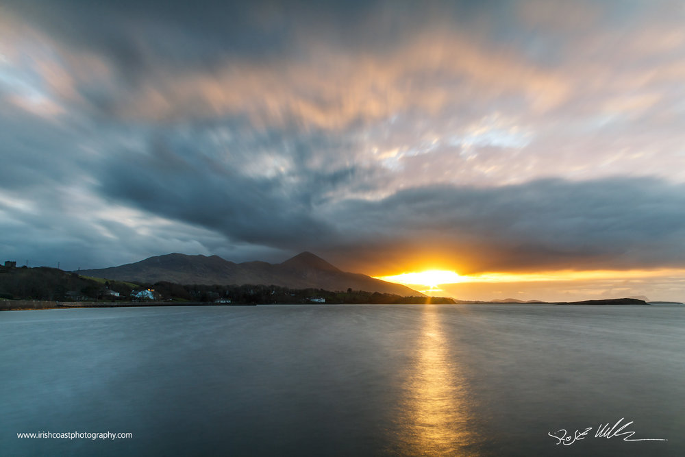 Croagh Patrick from Rosbeg, Westport Quay, Co. Mayo