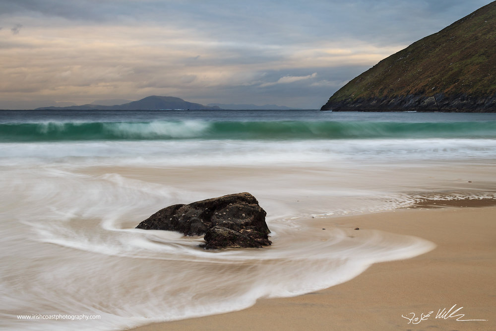 Big swell at Keem Strand, Achill, Co. Mayo