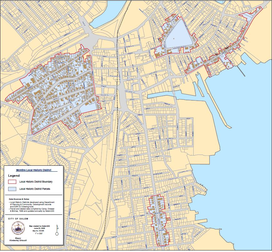 Salem's Local Historic District Map