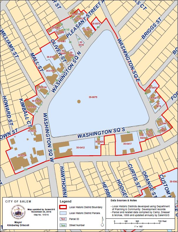 Washington Square District Map