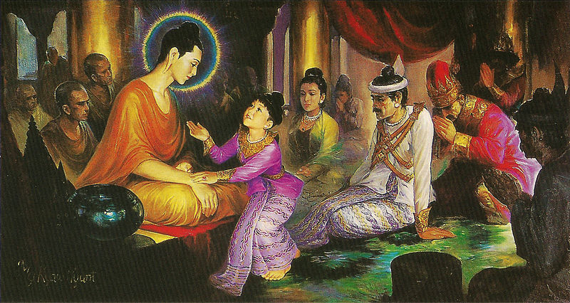 """Prince Rahula and Buddha"" by Hintha CC BY-SA 3.0"