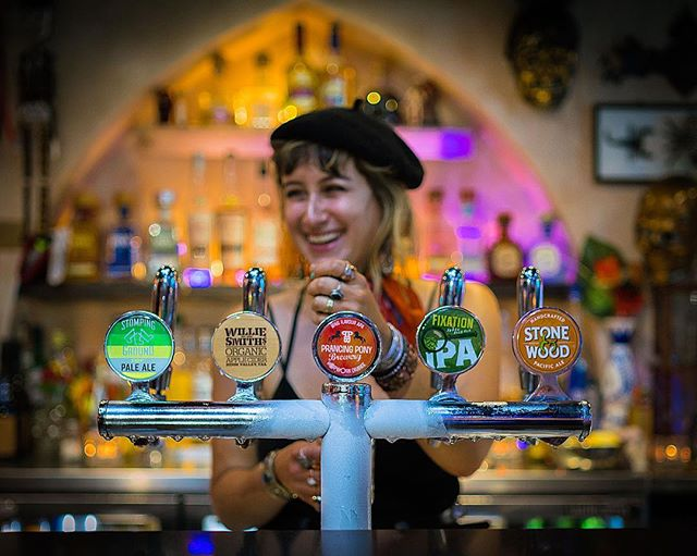 New craft beers & Cider on Tap!  @prancingponysa HopWork Orange, @fixationbrewing IPA and @williesmithscider organic cider in addition of @stompinggroundbrewingco Pale Ale and @stoneandwood Pacific Ale !!