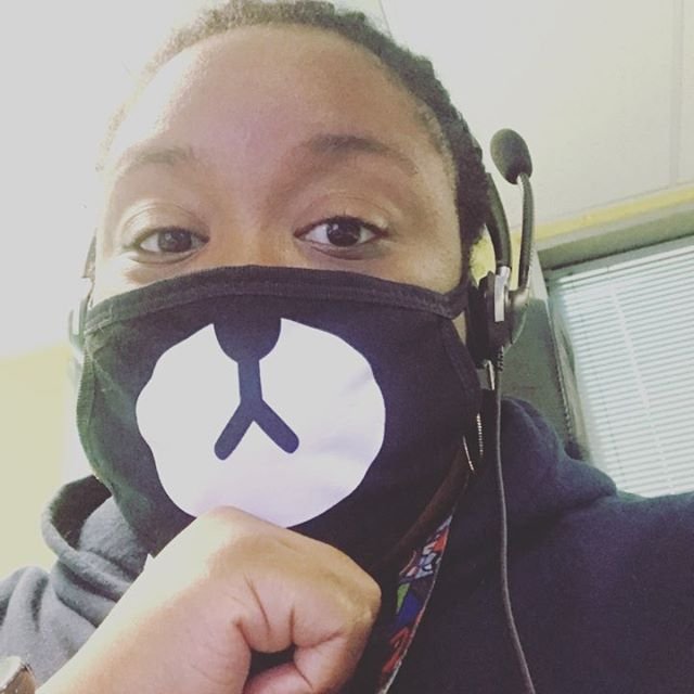 When you still have to work, you're sick, but you have a love for cute face mask. Maybe this may give me a chance to learn how to smile with my eyes. I guess. 🤷🏾♀️