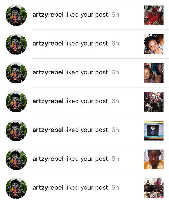 Thanks @artzyrebel for the love hun.