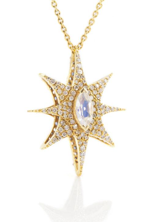 Lauren harper 160 carat diamond rainbow moonstone reversible gold star pendant lauren harper 160 carat diamond rainbow moonstone reversible gold star pendant aloadofball Choice Image