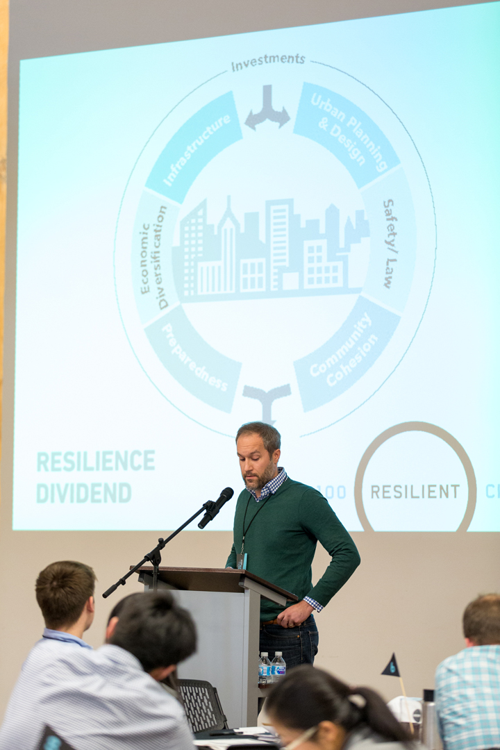 Matt Kellogg, Landscape Architect (MKSK) speaks on Resilient Design.