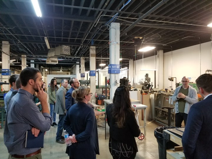 MKSK tours the Makerspace at the Columbus Idea Foundry.
