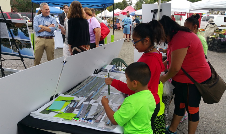 Lansing, MI public engagement at the Farmer's Market