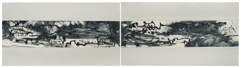 Ink Song Diptych IX and X