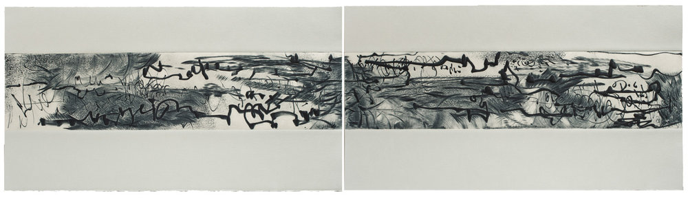 Ink Song Diptych VII and VIII