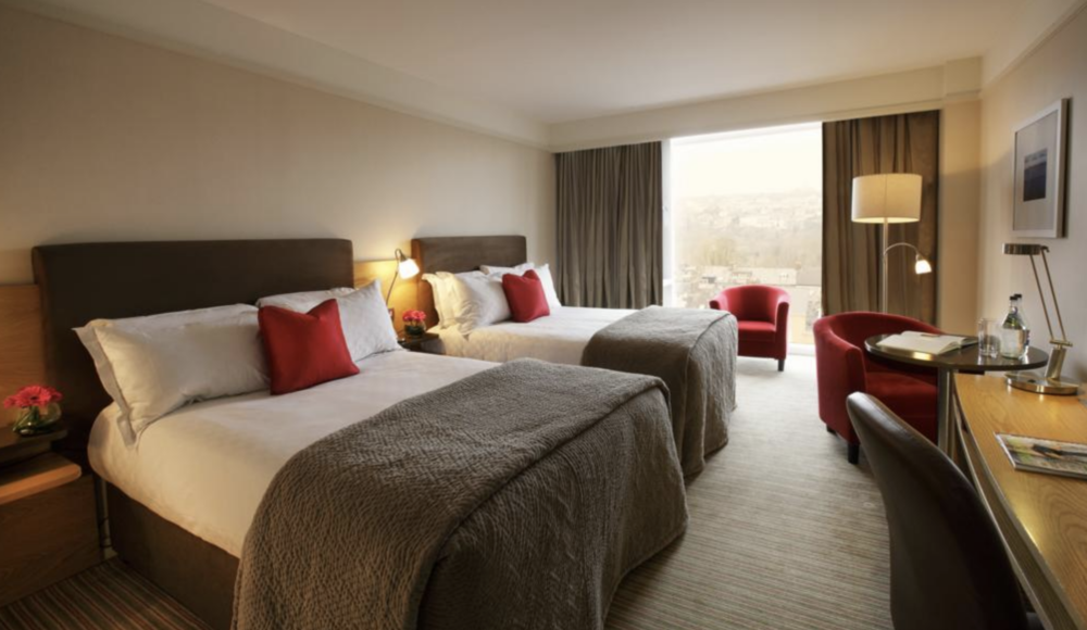 HOTELS  - Dublin:Camden Court HotelConfirmation: 620522864Family Room, 2 beds, nonsmokingCork: Radisson Blu Hotel and Spa, CorkConfirmation: 73217481012331BR Suite 2 beds, nonsmoking(breakfast included)Kilarney:Old Weir LodgeConfirmation: 7321748922082Superior Triple Room, Private Bathroom3 Twin beds, nonsmoking(breakfast included)Newmarket on Fergus:Inn at DromolandConfirmation: 7321749820412Family Room, 1 Bedroom1 Double Bed and 2 Twin Beds, nonsmokingGalway:Menlo Park HotelConfirmation: 7321750568020Classic Twin Room1 Queen Bed and 1 Twin Bed, nonsmoking(breakfast included) Coleraine (Northern Ireland):The Lodge HotelConfirmation: 7321751200548Family Room1 King Bed, nonsmoking(breakfast included)Dublin: Holiday Inn Express Dublin AirportConfirmation: 73217516041061 Double Bed with Sofa bed1 Double Bed and 1 Double Sofa Bed, nonsmoking(breakfast included)
