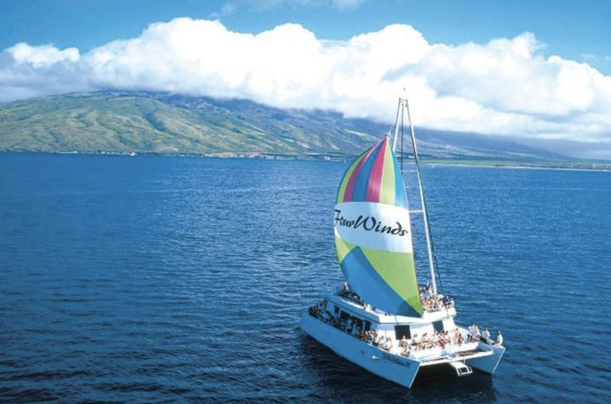 Jun 21:7a -12p: Sail and Snorkel at Molokini(w/breakfast, lunch and drinks) - Embark on a 55-foot glass bottom catamaran and take a scenic cruise to Molokini from Maalaea Harbor. On board, enjoy a complimentary continental breakfast of fresh bagels with cream cheese, jams, tropical fruits, Kona coffee and juices. Admire the spectacular views of the stunning white sandy beaches that stretch for miles and the sparkling turquoise ocean water from your boat. Learn about the fascinating history, culture and marine life of Maui from your naturalist expert guide.Arrive at Molokini Crater, and dive into the waters where you'll find abundant sea life and colorful coral reefs. No prior snorkeling experience is necessary- your local guide will teach you how to snorkel to explore the tropical underwater world.The fun continues on board where you can enjoy the view of the waters from the glass bottom viewing room. You'll have amazing views of the sea creatures all around you. Get a close view of the colorful tropical marine life underneath without getting wet! Choose to relax on the spacious sun deck or slide down the water slide.After snorkeling, enjoy a delicious barbecue lunch, complete with an open bar! Choose from a choice of chicken breast or pulled pork sandwich, garden burgers, hot dogs, chips and cookies for dessert! Imbibe on beer, wine and soda.