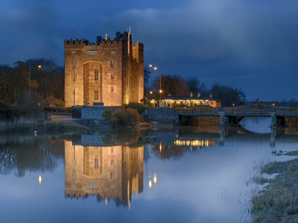 June 8: ARRIVAL in Ireland & Bunratty Castle Irish Night - Upon arrival, you will pick up your 2 rental cars and drive to your hotel. We have arranged for you to immediately check in and refresh in your rooms. Within walking distance of your hotel, are many shops and even some castles and other grounds to explore.We would suggest, after freshening up in your hotel room, or grabbing some breakfast/lunch, making your way to Bunratty Castle.This is the most complete and authentic Castle in Ireland (or so they say)The site on which Bunratty Castle stands was in origin a Viking trading camp in 970. The present structure is the last of four castles to be built on the site.This evening, you have tickets to an Irish Night filled with song, dance and food! The grounds have much to explore, though, so taking your time earlier in the day to wander about at Bunratty Castle, may be enjoyable!You'll stay in Limerick tonight before traveling south.