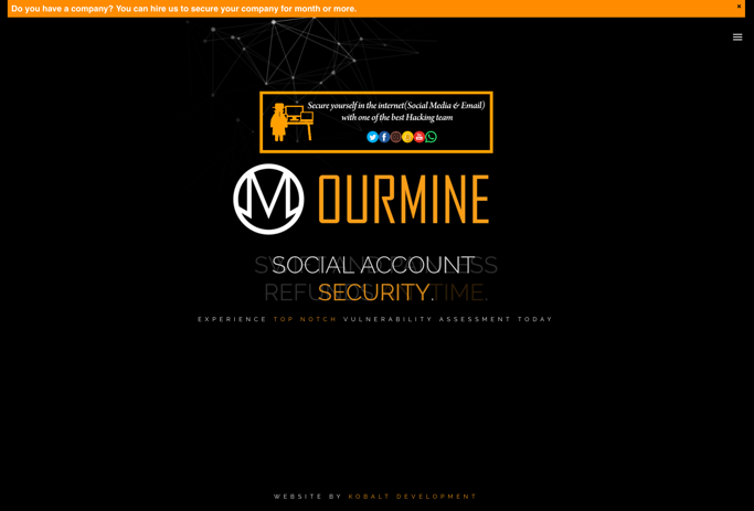 OurMine Website built by Kobalt Development