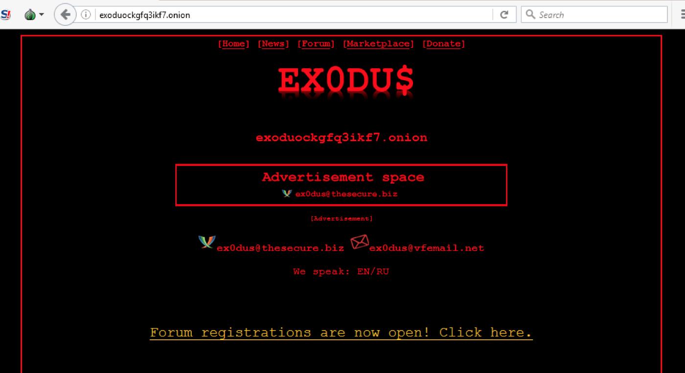 Is the darknet board Ex0du$ gone for good? — DarkOwl - Darknet Big Data