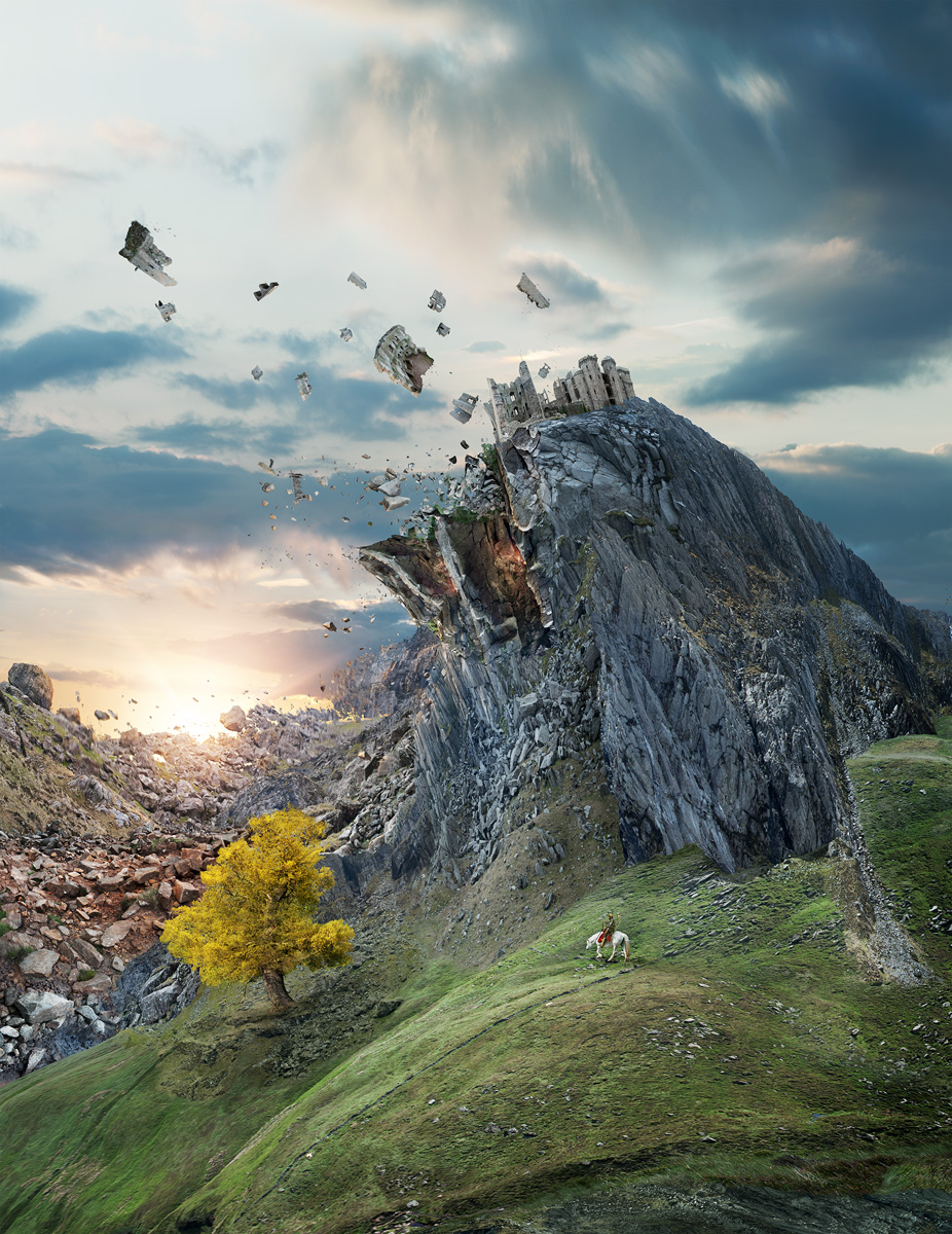 Imagined landscape built for the BBC Philharmonic from hundreds of images from England and Wales