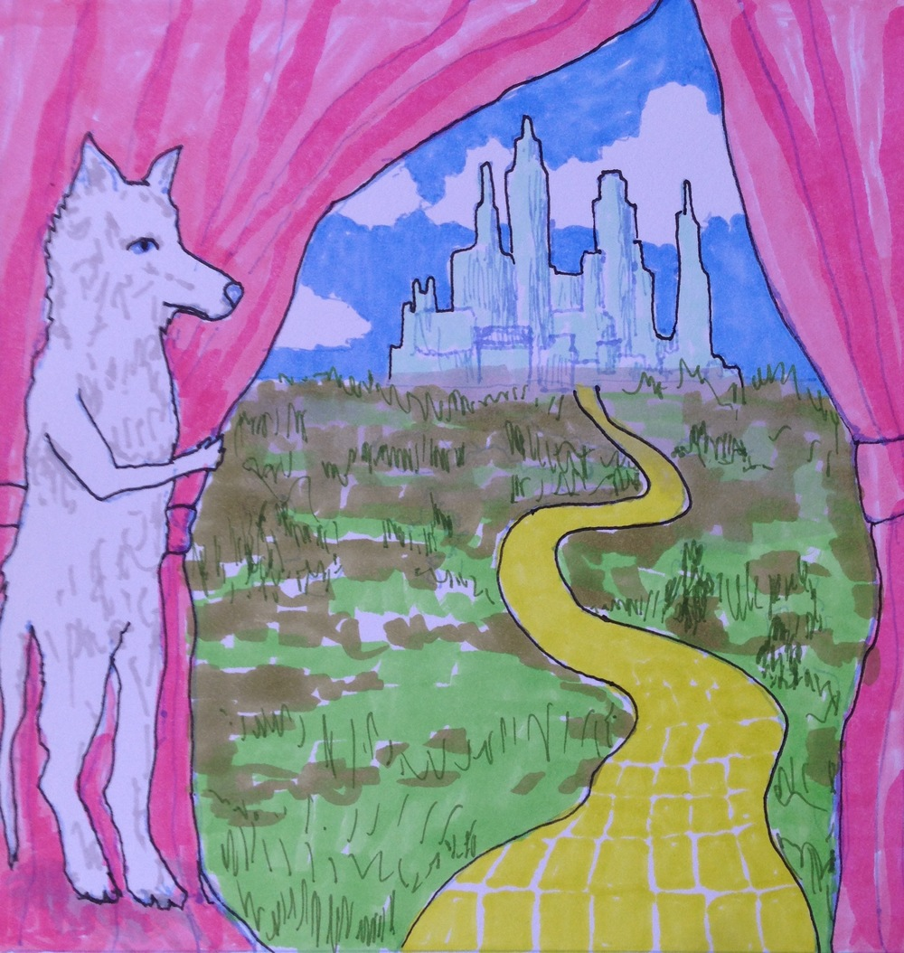 Follow your yellow brick road... artwork by Sandy Sitron