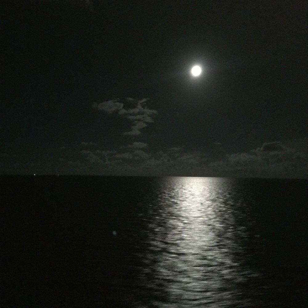 The Pisces Full Moon over the Atlantic Ocean. Photo by sandra sitron.
