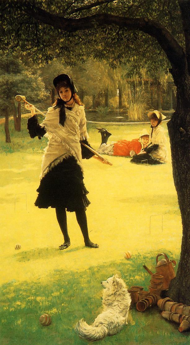 Croquet (c. 1878), by James Tissot.