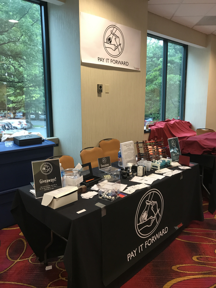 The Pay-it-Forward table at the 2017 Washington D.C. Pen Supershow