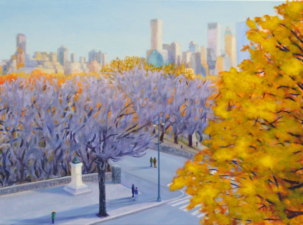 """November in Central Park    18"""" x 24"""""""