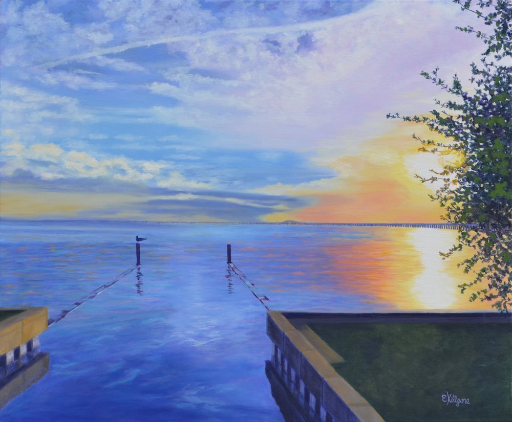 """A Perch With A View   20"""" x 24"""" First Place 2018 Marine Show, SAA"""